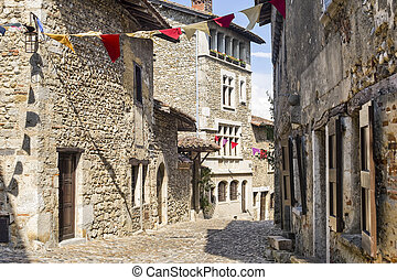 Perouges (Ain, Rhone-Alpes, France) - Buildings of the...