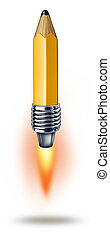 Creative Power - Creative power symbol as a pencil with a...