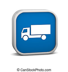 Truck sign on a white background. Part of a series.