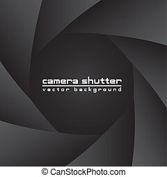 camera shutter - black camera shutter with space for copy,...