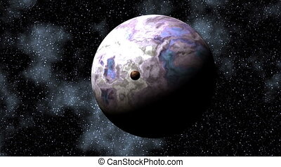 Two planets in depths of space