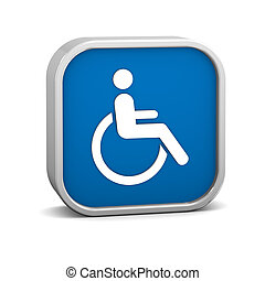 Wheelchair Accessible sign on a white background. Part of a...