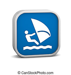 Windsurfing sign on a white background. Part of a series.