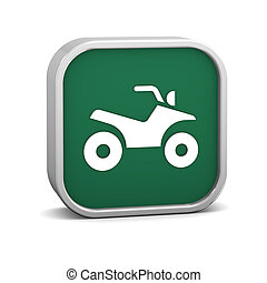 Four wheeler sign on a white background. Part of a series.