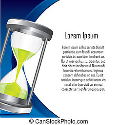 hourglass with space for copy backkground. vector...