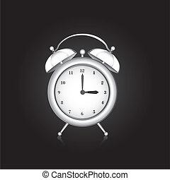 white clock alarm