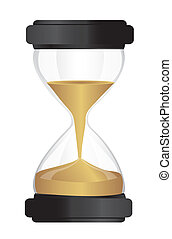 hourglass isolated over white background. vector...
