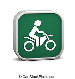 Dirt bike sign on a white background Part of a series