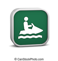 Jet ski sign on a white background Part of a series