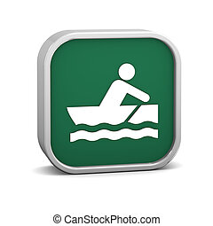 Rowboat sign on a white background Part of a series