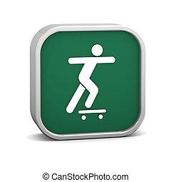 Skateboarding sign