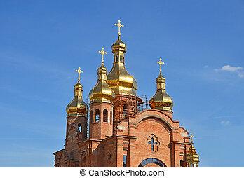New church under construction in Kiev, Ukraine