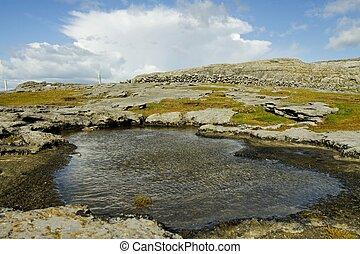 Ballyreen, Galway, Ireland - Ballyreen landscape, Galway,...