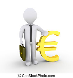 Businessman with euro sign