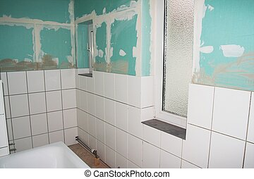 Bathroom reconstruction - Reconstruction of a bathroom with...
