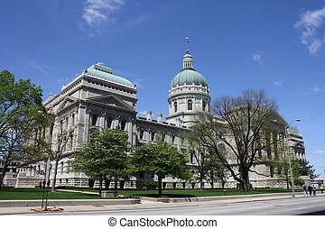 Indiana Statehouse - Indiana statehouse in Indianapolis...