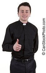 Priest with a thumbs up sign - A preist with a thumbs up...