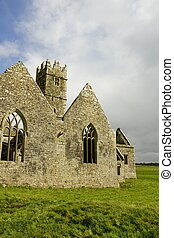 Ross Friary, County Galway, Ireland - landscape of Ross...