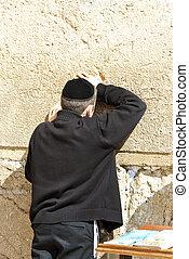 Western Wall - Jews praying at the Western Wall - Jerusalem