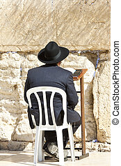 Western Wall - Jews praying at the Western Wall - Jerusalem