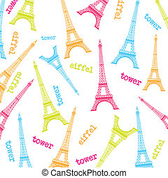 eiffel tower - cute eiffel tower over white background....