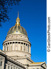 West Virginia Statehouse Dome - Golden dome of the West...