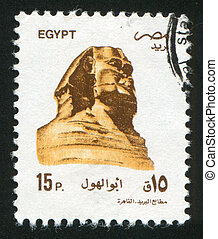 Sphinx - EGYPT - CIRCA 1994: stamp printed by Egypt, shows...