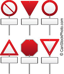 Red traffic sign