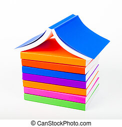 colorful books Stack like home