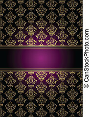 Vector purple and gold background