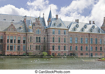 Binnenhof Palace in Den Haag, Netherlands. Dutch Parlament...