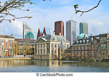 Binnenhof Palace - Dutch Parlamen against the backdrop of...