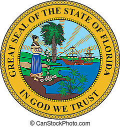 Florida seal - Various vector flags, state symbols, emblems...
