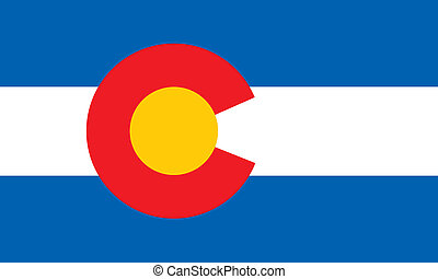 F colorado - Various vector flags, state symbols, emblems of...