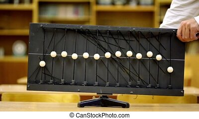 Many use old equipment with balls on ropes for demonstration waves at school