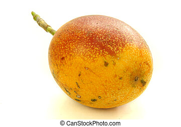Granadilla fruit - Whole uncut granadilla fruit isolated on...