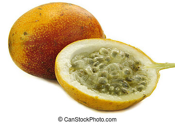 Granadilla fruit - Fresh raw granadilla fruit isolated on...