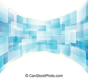 Virtual Screen - Virtual technology abstract background.