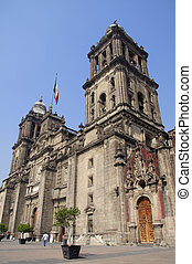 Cathedral of the Assumption of Mary of Mexico City beneath...