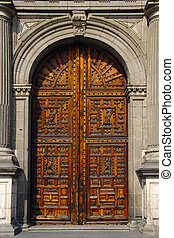 Old portal door - Main portal of Cathedral of the Assumption...