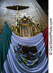 Apron of Juan Diego in Basilica - Cross, apron of Juan...
