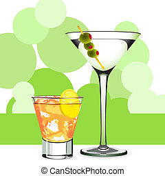 Martini and cocktail