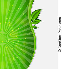 Environmental background with plant. Vector illustration