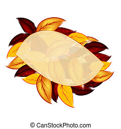 Autumnal leaf environmental background Vector illustration