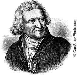 Antoine-Augustin Parmentier, vintage engraving. -...
