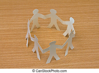 Cutout paper people