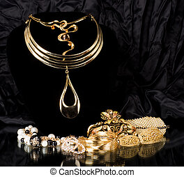 Golden jewelry