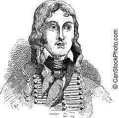 Francois Severin Marceau-Desgraviers, vintage engraving