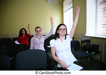 All everyone knows - smart students raise their hands, they...