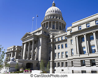 Capital building in boise idaho - A profile view of the...
